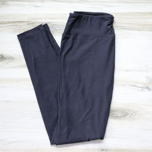 LuLaRoe Dark Gray OS Leggings